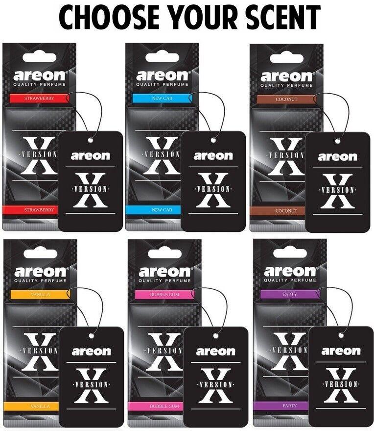 5x Original Areon Duftbaum Lufterfrischer Dose Duft X Vision Bubblegum Kaugummi