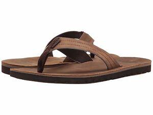 3da6d4b77 Men s Shoes Reef Voyage Leather Flip Flop Sandals RF0A2YFR Dark ...