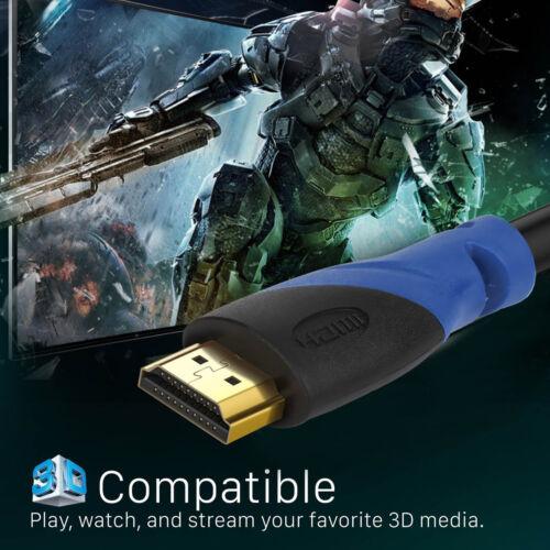 6ft-50ft Ultra HDMI 2.0 a Cable 2160p@60Hz Hi-Speed+Ethernet HDTV 4K 3D GOLD Lot