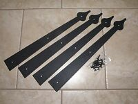 Garage Door Deluxe Decorative Hardware Kit - (4) Hinges Only - Includes Screws
