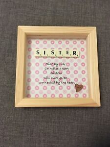 Sister Birthday Gift Handmade Scrabble Frame Perfect For Your