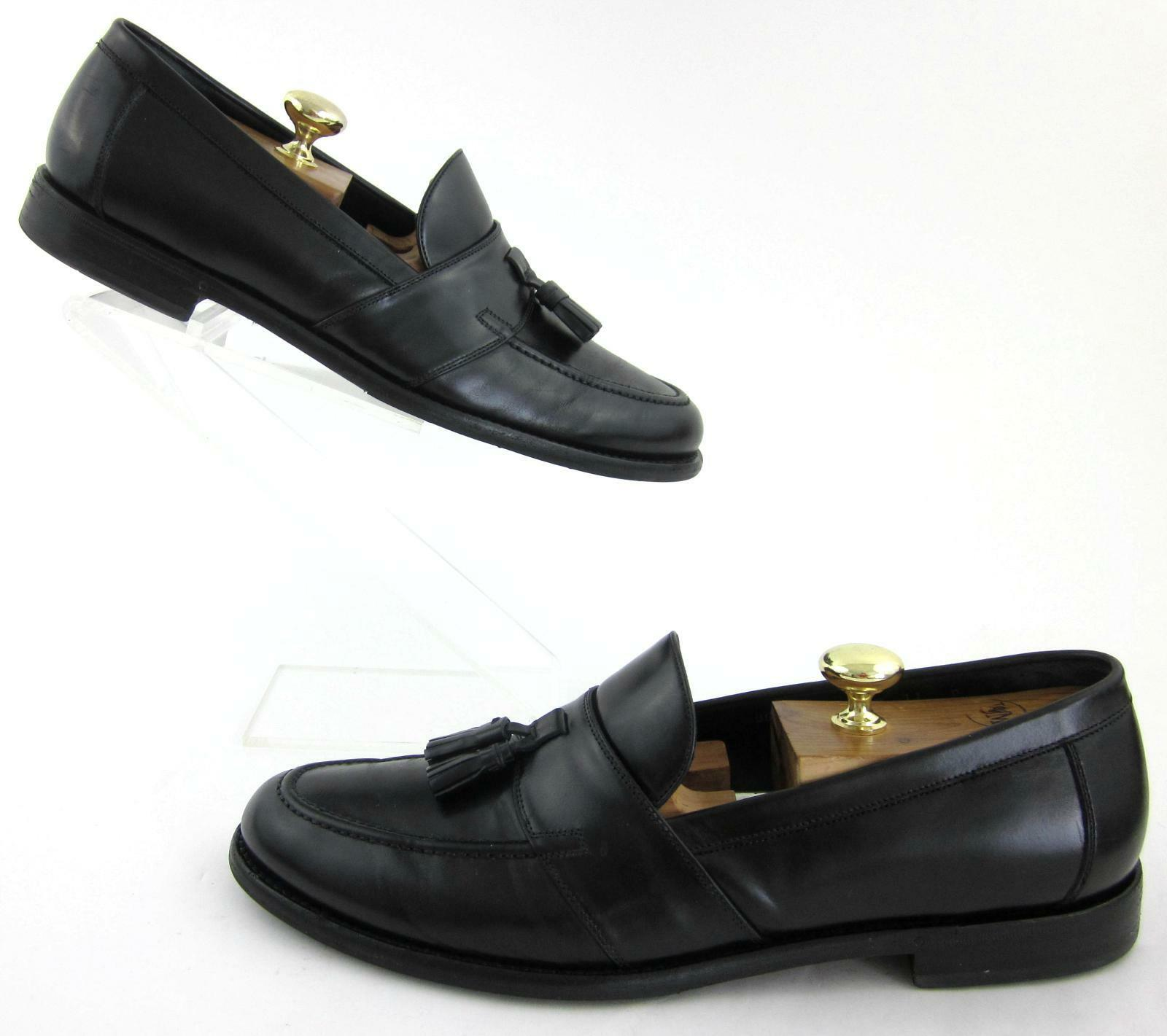 Salvatore Ferragamo Lavorazione Originale Tassel Dress Lofers nero Sz 11D  700