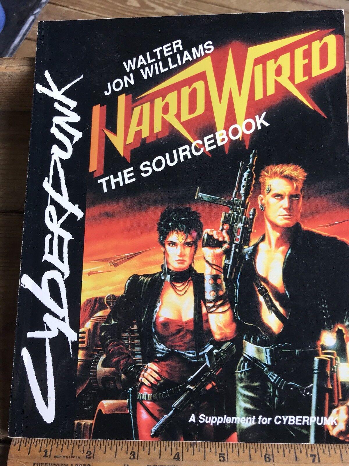 Raro Libro de origen Ciberpunk cableado by Walter J. Williams R. Talsorian Juegos