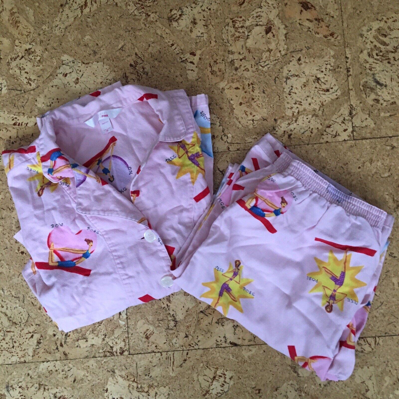d28b5b249c Victoria s Secret PINK Flannel Yoga Print Pajama Set Lounge Pants Pants  Pants   Top Sz M GUC f03b91