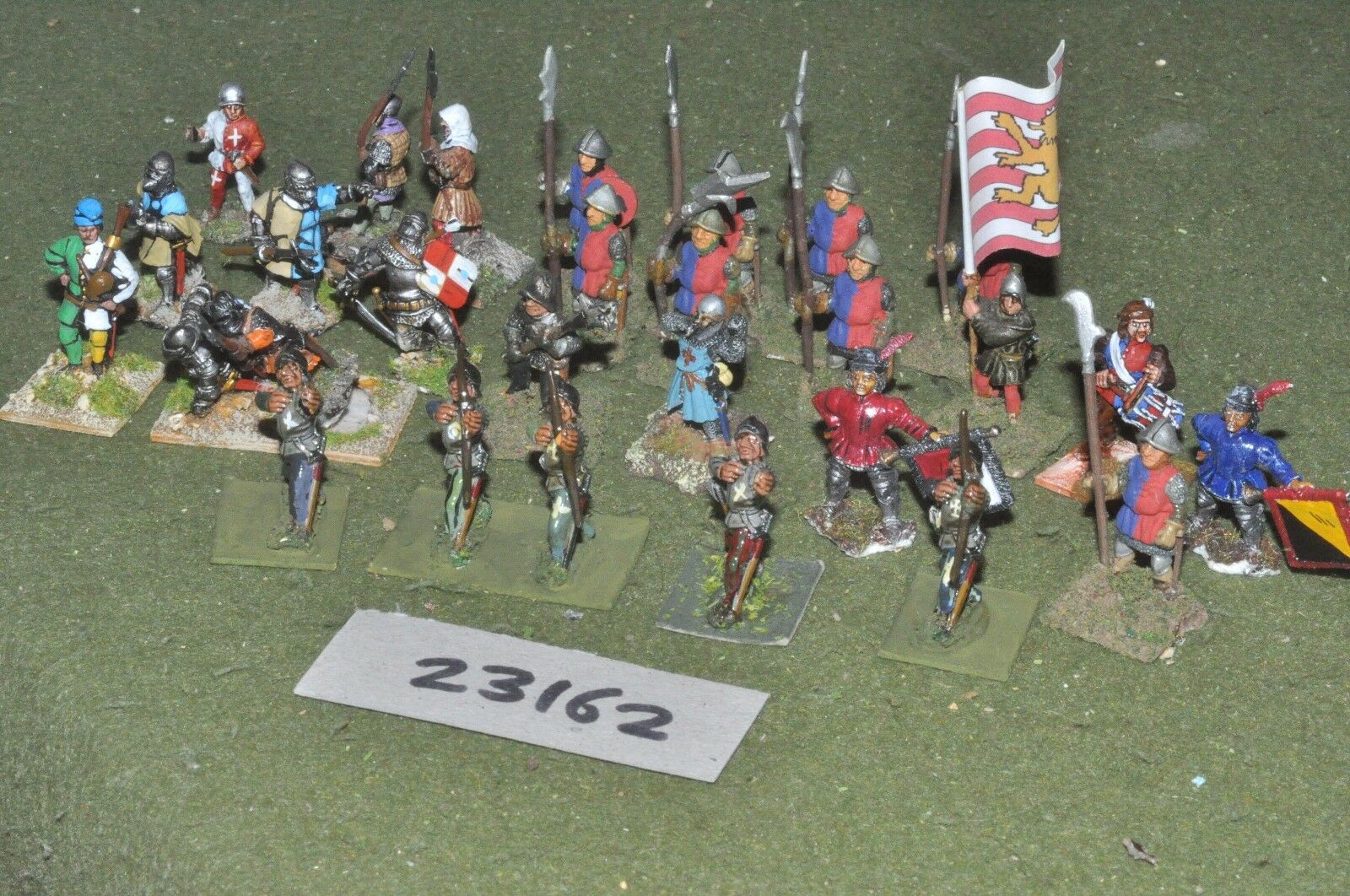 25mm medieval   english - battle group 28 figures - inf (23162)