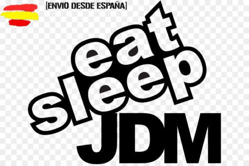 pegatina racing modo de vida comer dormir jdm eat sleep seat jdm japo sticker