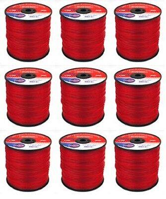Trimmer Line .095 x 685/' Lot 3 lb Spools Rotary 12175 Black Vortex Prof 9