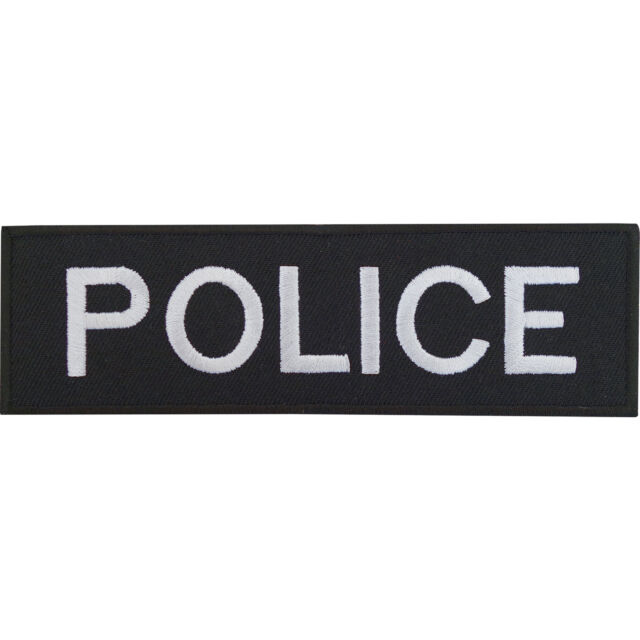 Police Patch Embroidered Iron Sew On Badge Policeman Officer Fancy Dress Costume