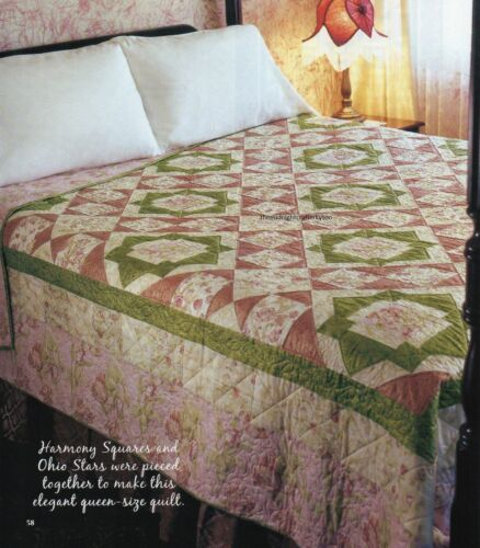 Harmony Stars Quilt Pattern Pieced PT