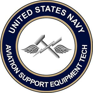 Aviation Support Equipment Technician Navy Rating Decal Navy Rating Badge Decal Navy Enlisted Rating Decal US Navy Car Decal