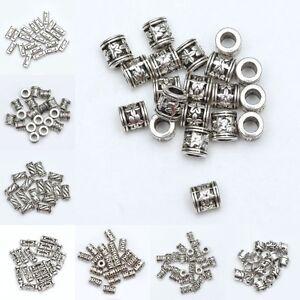 50pcs-Tibetan-Silver-Tube-Loose-Spacer-Beads-Jewelry-Making-DIY-Wholesale