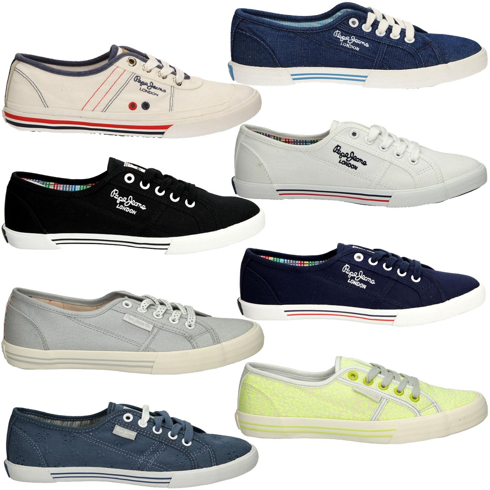 Damen Turnschuhe Pepe Jeans Pls30087 Schuhe Flach Modisch Bequem Gr. 36-41 SALE