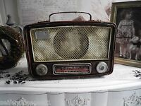Radio Retro old  Metall antik Look alt Deko Vintage Nostalgie