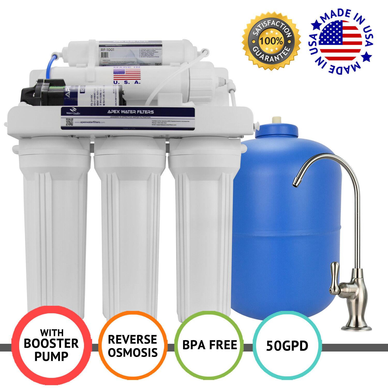APEX MR-5151 5 étape 100 Gotham Police Department Booster Pompe Osmose Inverse Osmose Inverse Filtre à Eau Système