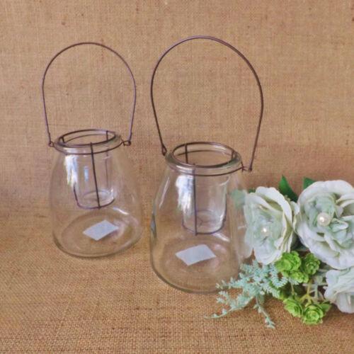 Glass Hanging Suspended Tealight Votive Candle Holder Home Garden Lantern
