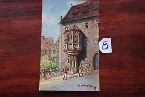 Amical Carte Postale Bavière Nuremberg-afficher Le Titre D'origine éLéGant Et Gracieux