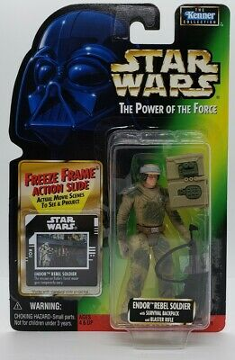 STAR WARS Endor Rebel Soldier The Power of the Force 1997 Freeze Frame
