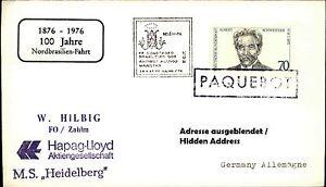PAQUEBOT-Belem-Schiffspost-Schiff-Seepost-mit-Stempel-MS-HEIDELBERG-Shipletter
