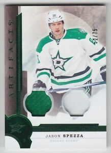 2016-17-UD-ARTIFACTS-JASON-SPEZZA-PATCH-JERSEY-75-EMERALD-Game-Used-60-Stars