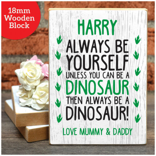 DINOSAUR Gifts for Boys Personalised Birthday Presents For Boys Him Son Nephew