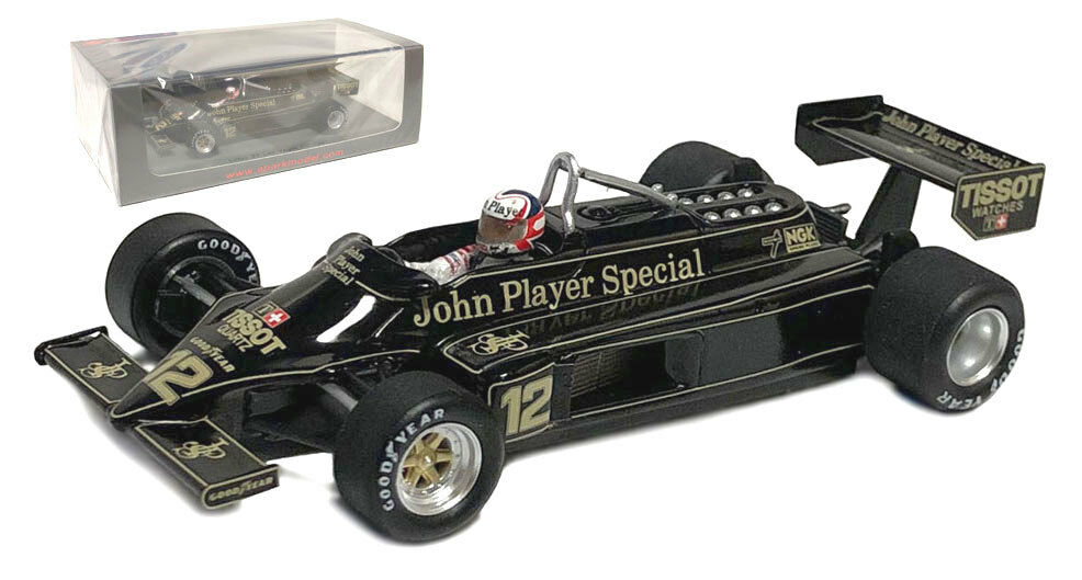SPARK S5358 LOTUS 87  12 'JPS's Las Vegas GP 1981-NIGEL MANSELL scala