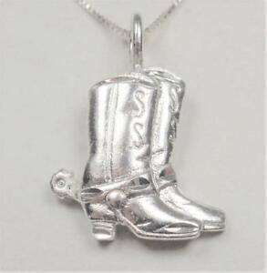 country crystals COWGIRL jewelry silver charm pendant heart wild west