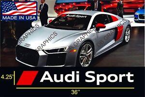 Audi Sport Windshield Banners Cars Stickers Decals Tt Graphics Ebay
