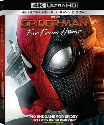 Spider Man Far From Home 2019 4k Ultra Hd Blu Ray 2 Discs For Sale Online Ebay
