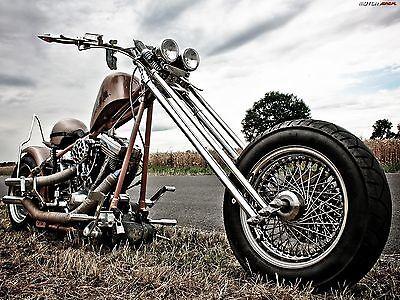 "24/"" x 36/"" Poster Chopper Bike Tunning Motorcycle"