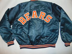 Image is loading Vintage-80s-Chicago-Bears-Chalk-Line-Spellout-Satin- 71040a280
