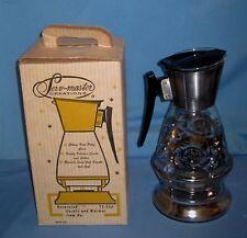 VTG NIB Mid Century Serv-Master Colony Glass Coffee/Tea Carafe/Tea Light Warmer!