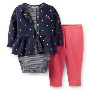 NWT Carters Baby Boy/'s 3 Piece Fleece Cardigan Set Clothes 6 9 18 24 months