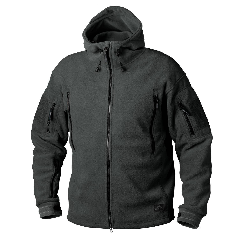 HELIKON PATRIOT HEAVY FLEECE Outdoor Kapuzen JACKE Jacket Jungle Grün Medium