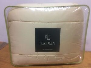 BRAND-NEW-RALPH-LAUREN-450-THREAD-COUNT-TWIN-SIZE-COMFORTER-COLOR-DAFFODIL