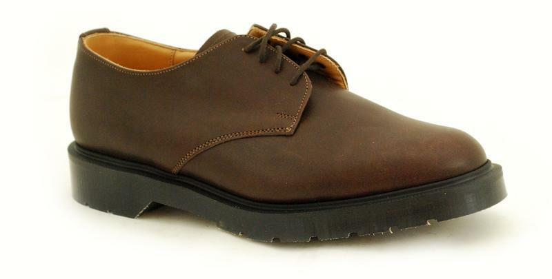 Solovair Solovair Solovair NPS shoes made in England 4 Eye Brown Greasy shoe s037-L 4996 BRGR 57098c