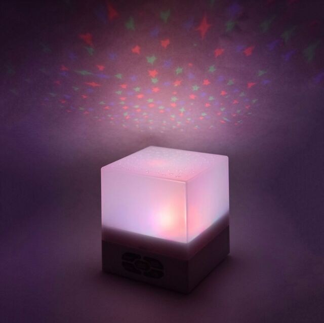 Sentik Star Projection Cube Light Ceiling Starry Night Lamp Lullaby Nature Sound
