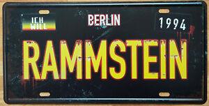 Blechschild RAMMSTEIN Metallschild 30 x 15 cm Vintage Nostalgie Kennzeichen NEU