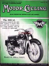 Jan 29 1959 MATCHLESS 'Model G3 350cc' Motor Cycle ADVERT - Magazine Cover Print