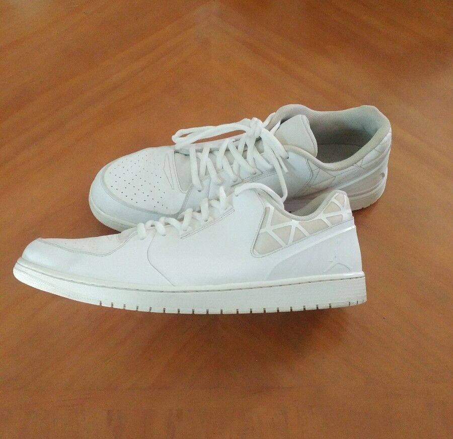 Nike air jordan 1 volo 3 basso basket bianco formatori 723982-100 dimensioni 18