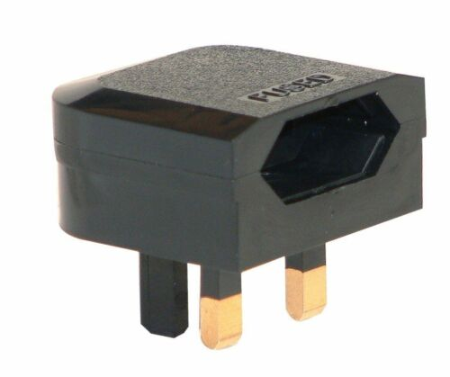 EU to UK Euro European to UK 2 Pin to 3 Pin Plug Travel Adapter Wall Converter