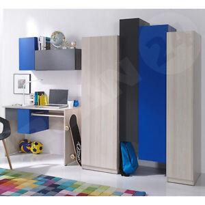 Das Bild Wird Geladen Wohnwand Brent Kinderzimmer Set Modern Jugendzimmer  Set Schreibtisch