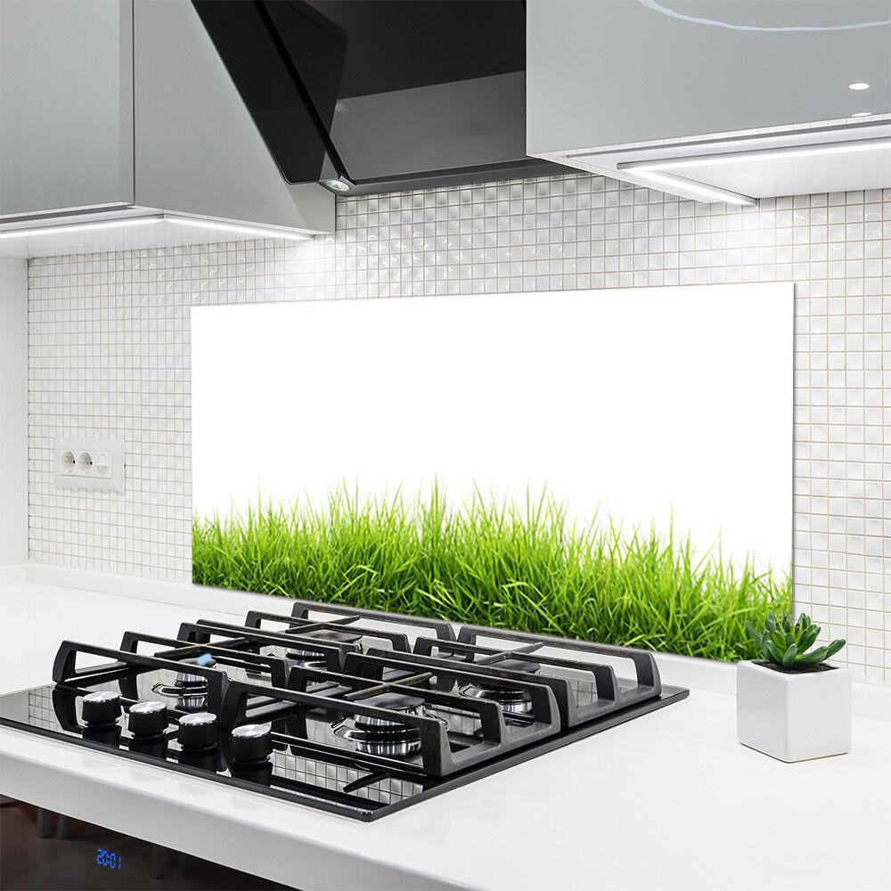 Crédence de cuisine en verre verre verre Panneau 120x60 Nature Herbe 078330