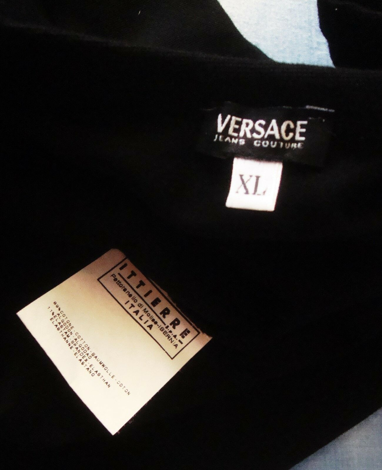 T-SHIRT Uomo  slimfit vintage  VERSACE Jeans Couture    TG.XL made  NEW  Rare 989699