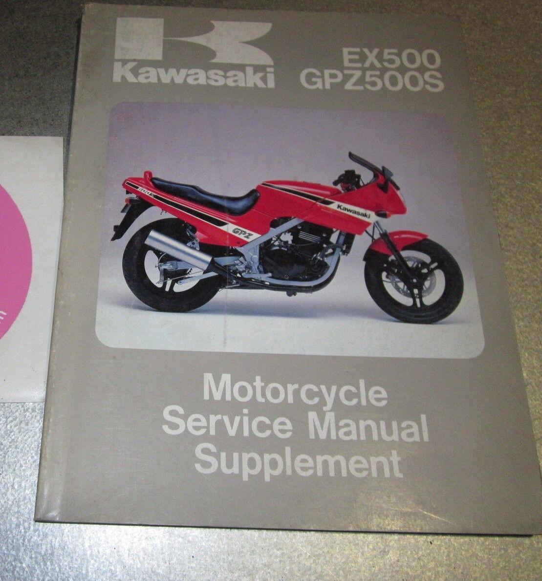 kawasaki gpz500s 1992 repair service manual