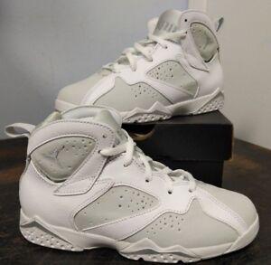 reputable site dbe6d bd091 Details about Jordan 7 Retro BP Little Kid's Shoes White/Metallic Silver  304773-120 (Lot C2-1)
