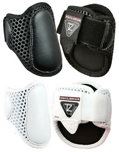Equilibrium-Tri-Zone-Lightweight-FETLOCK-Showjumping-Boots-NEW-Black-White-M-L