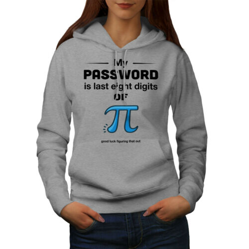 My Password Pi Casual Hooded Sweatshirt Wellcoda Funny Math Womens Hoodie
