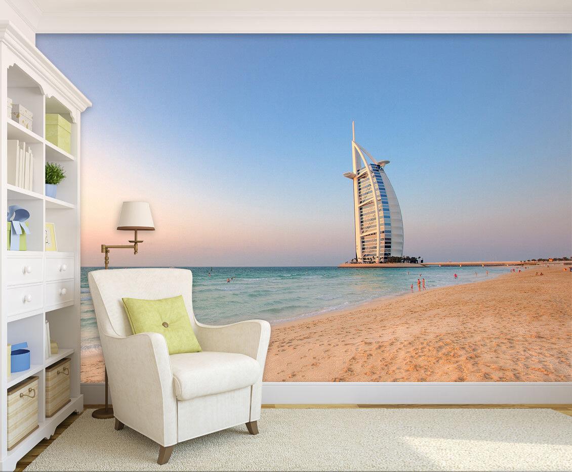 3D Dubai Sailing Hotel 7 Wall Paper Murals Wall Print Wall Wallpaper Mural AU