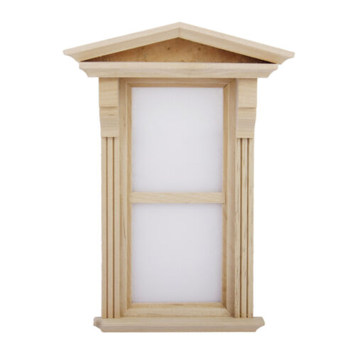 Traditional Dolls house Miniature Wooden Victorian Window 1//12th Non-working