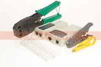 Rj45 Rj11 Cat5 Cat5e Cat6 Lan Network Tool Kit Cable Tester Plug Pliers Crimper